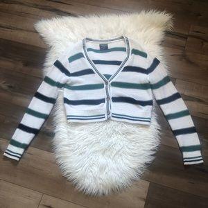 Abercrombie Stripe Crop Cardigan